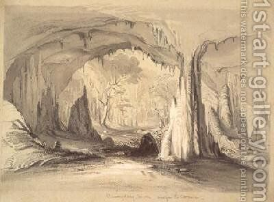 Burrangallong Cavern view from the entrance 1844 by Conrad Martens - Reproduction Oil Painting