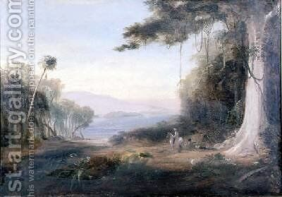 An Illiwara Lake Landscape by Conrad Martens - Reproduction Oil Painting