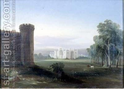 Government House and Stables Sydney 1841 by Conrad Martens - Reproduction Oil Painting