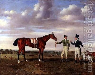 Zinganee held by Sam Chifney Junior 1786-1855 by Benjamin Marshall - Reproduction Oil Painting
