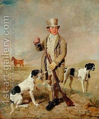 Richard Prince with Damon the late Colonel Mellishs Pointer by Benjamin Marshall - Reproduction Oil Painting