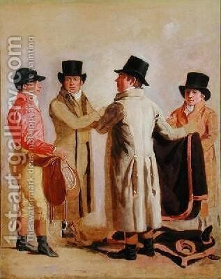 Frank Buckle John Wastel Robert Robson and a Stable Lad by Benjamin Marshall - Reproduction Oil Painting
