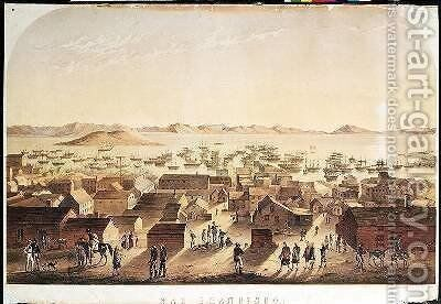 A General View of San Francisco by (after) Marryat, Francis Samuel - Reproduction Oil Painting