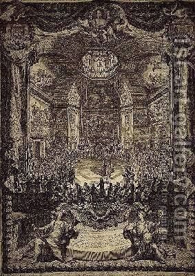The Grand Feast of HRH the Princess of Orange by Daniel the Elder Marot - Reproduction Oil Painting