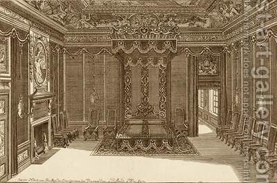 Design for a Bedchamber with a State Bed by Daniel the Elder Marot - Reproduction Oil Painting