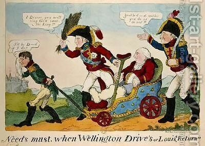 Needs Must when Wellington Drives or Louis Return by J.L. Marks - Reproduction Oil Painting