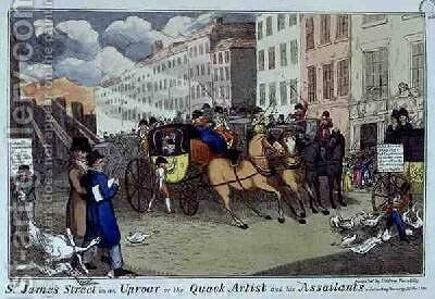 St Jamess Street in an Uproar by J.L. Marks - Reproduction Oil Painting