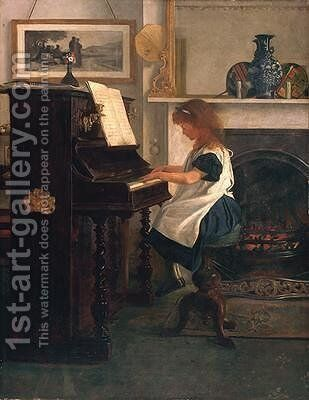At the Piano by Henry Stacy Marks - Reproduction Oil Painting