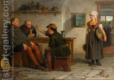 An Increadible Story by Henry Stacy Marks - Reproduction Oil Painting
