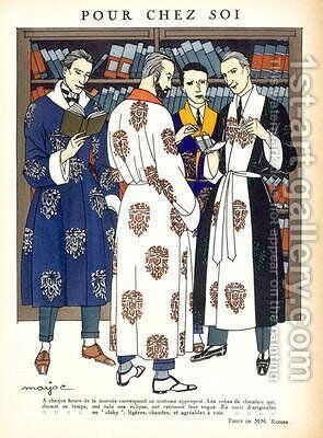 Mens dressing gowns by Marjac - Reproduction Oil Painting