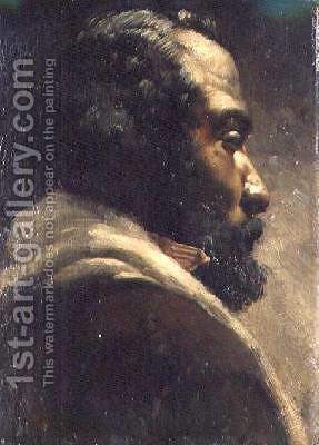 Head of a Negro by Matthijs Maris - Reproduction Oil Painting