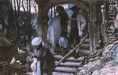 The Christening Gate in Lausanne 1861 by Matthijs Maris - Reproduction Oil Painting