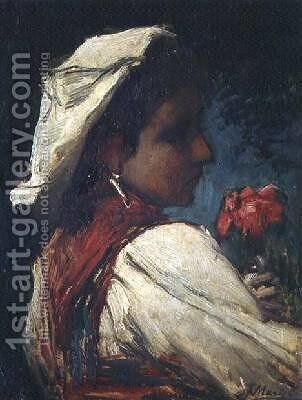 Italian Girl by Jacob Henricus Maris - Reproduction Oil Painting