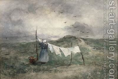 Washing Day by Jacob Henricus Maris - Reproduction Oil Painting