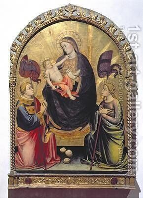 Madonna and Child with St Stephen and St Ursula by di Nardo Mariotto - Reproduction Oil Painting
