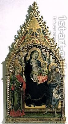 Madonna and Child with St Philip and St John the Baptist by di Nardo Mariotto - Reproduction Oil Painting