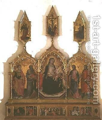 Madonna and Child with Saints 4 by di Nardo Mariotto - Reproduction Oil Painting