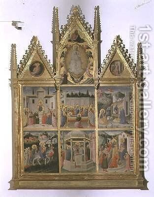Scenes from the Life of Christ and of the Virgin by di Cristofano Mariotto - Reproduction Oil Painting