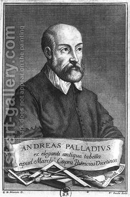 Andrea Palladio 1508-80 by (after) Mariotti, Giovanni Battista - Reproduction Oil Painting
