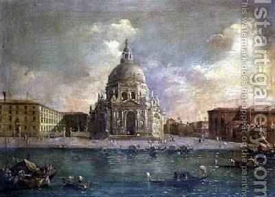 Santa Maria della Salute from the Grand Canal by Michele Marieschi - Reproduction Oil Painting