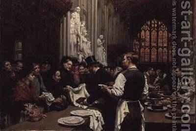 Distributing Left-overs to the Poor after the Lord Mayors Banquet at the Guildhall 1882 by Adrien Emmanuel Marie - Reproduction Oil Painting