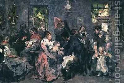 Rural Vaccination by Hippolyte Margottet - Reproduction Oil Painting