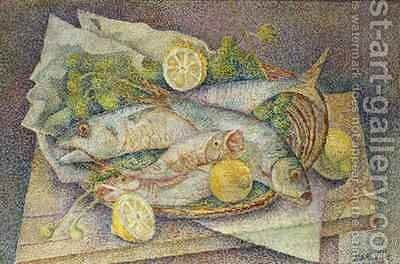 Still Life of Fish by Marie Vorobieff Marevna - Reproduction Oil Painting