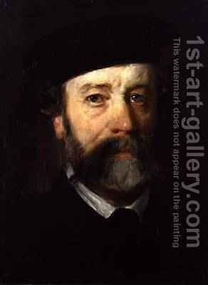 Portrait of a Man with a Beard 1863 by Hans von Marees - Reproduction Oil Painting