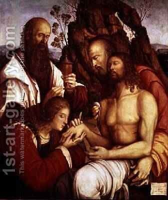 The Lamentation Over the Dead Christ by Girolamo Marchesi da Cotignola - Reproduction Oil Painting
