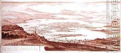 The Town of Mexico from Voyages aux Regions Equinoxales du Nouveau Continent by Alexander von Humboldt by (after) Marchais, Pierre Antoine - Reproduction Oil Painting