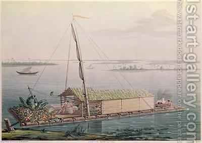 Raft on the Guayaquil River by (after) Marchais, Pierre Antoine - Reproduction Oil Painting
