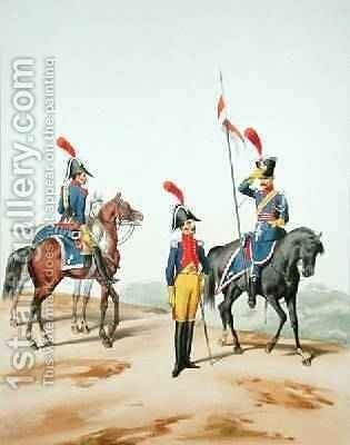 French Troops by (after) Marbot, Alfred de - Reproduction Oil Painting