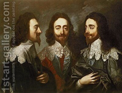 Charles I in Three Positions by Carlo Maratta or Maratti - Reproduction Oil Painting