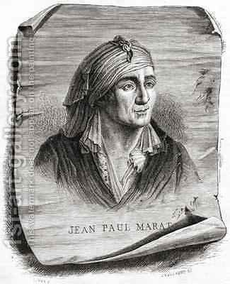 Portrait of Jean Paul Marat by (after) Mar, Leopold - Reproduction Oil Painting