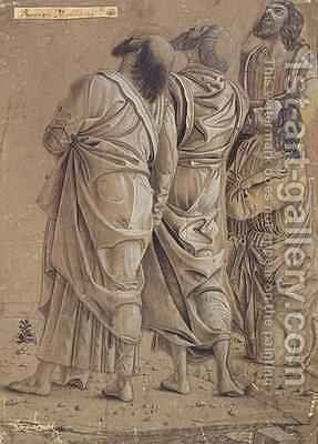 Group of Apostles from the Ascension of Christ by (after) Mantegna, Andrea - Reproduction Oil Painting