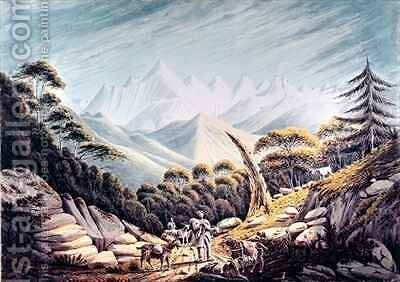Nepalese Herdsmen in the Himalayas 1826 by James Manson - Reproduction Oil Painting