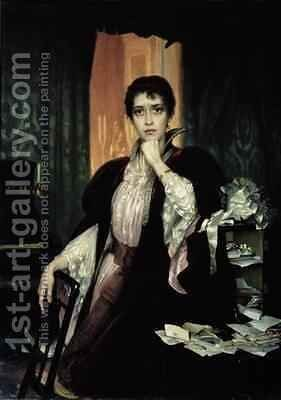 Anna Karenina 1904 by Heinrich Matvejevich Maniser - Reproduction Oil Painting