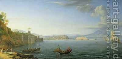 View of Naples 1750 by Adrien Manglard - Reproduction Oil Painting