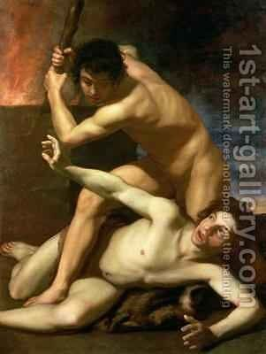 Cain murdering Abel 1610 by Bartolomeo Manfredi - Reproduction Oil Painting