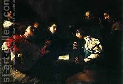 A Concert 1610-20 by Bartolomeo Manfredi - Reproduction Oil Painting