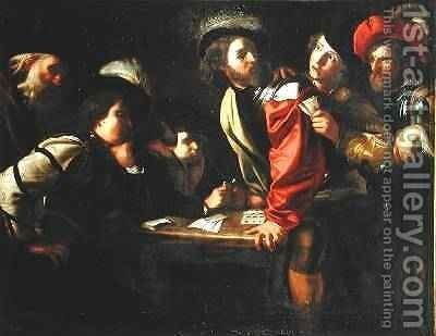 Soldiers Playing Cards by Bartolomeo Manfredi - Reproduction Oil Painting
