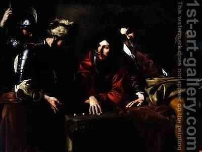 Soldiers Gambling by Bartolomeo Manfredi - Reproduction Oil Painting