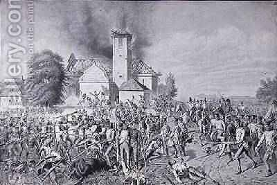 The Battle of Waterloo by (after) Maly, August von - Reproduction Oil Painting