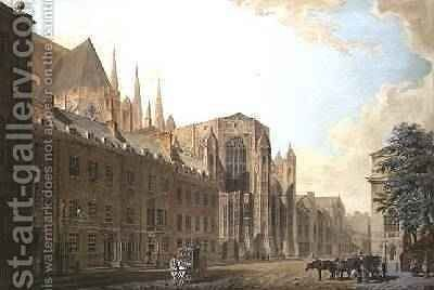 Old Palace Yard Westminster by Thomas Malton, Jnr. - Reproduction Oil Painting