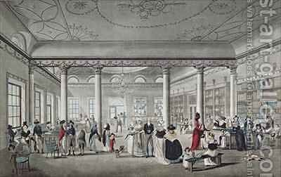 Halls Library at Margate 1789 by (after) Malton, Thomas - Reproduction Oil Painting