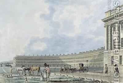 The Royal Crescent Bath 1777 by Thomas Malton, Jnr. - Reproduction Oil Painting