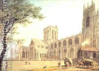 York Minster from the North West 1794 by James Malton - Reproduction Oil Painting