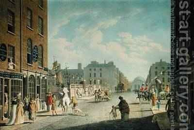 Capel Street with the Royal Exchange Dublin 1800 by James Malton - Reproduction Oil Painting