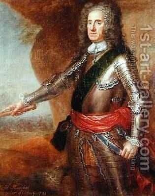 Field Marshal George Hamilton 1666-1737 Earl of Orkney by Martin Maingaud - Reproduction Oil Painting