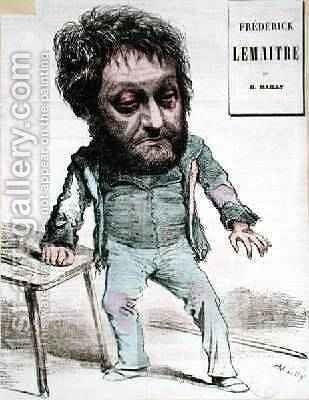 Caricature of Frederick Lemaitre by Hippolyte Mailly - Reproduction Oil Painting